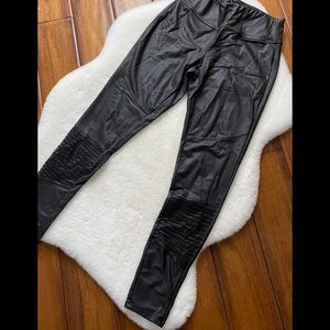 Dynamite Faux Leather Moto Leggings